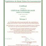certificat HVE